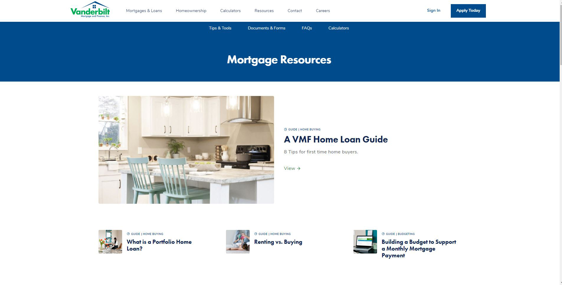 Mortgage resources help educate customers and bring clarity to the mortgage process.