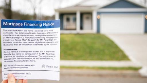 The MH Advantage® home has a Mortgage Financing Notice placed in the home to indicate to an appraiser to use the best and most appropriate other sales available, which may include sales of site-built homes.