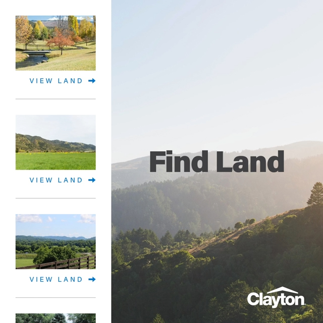 Clayton launches new Find Land tool.