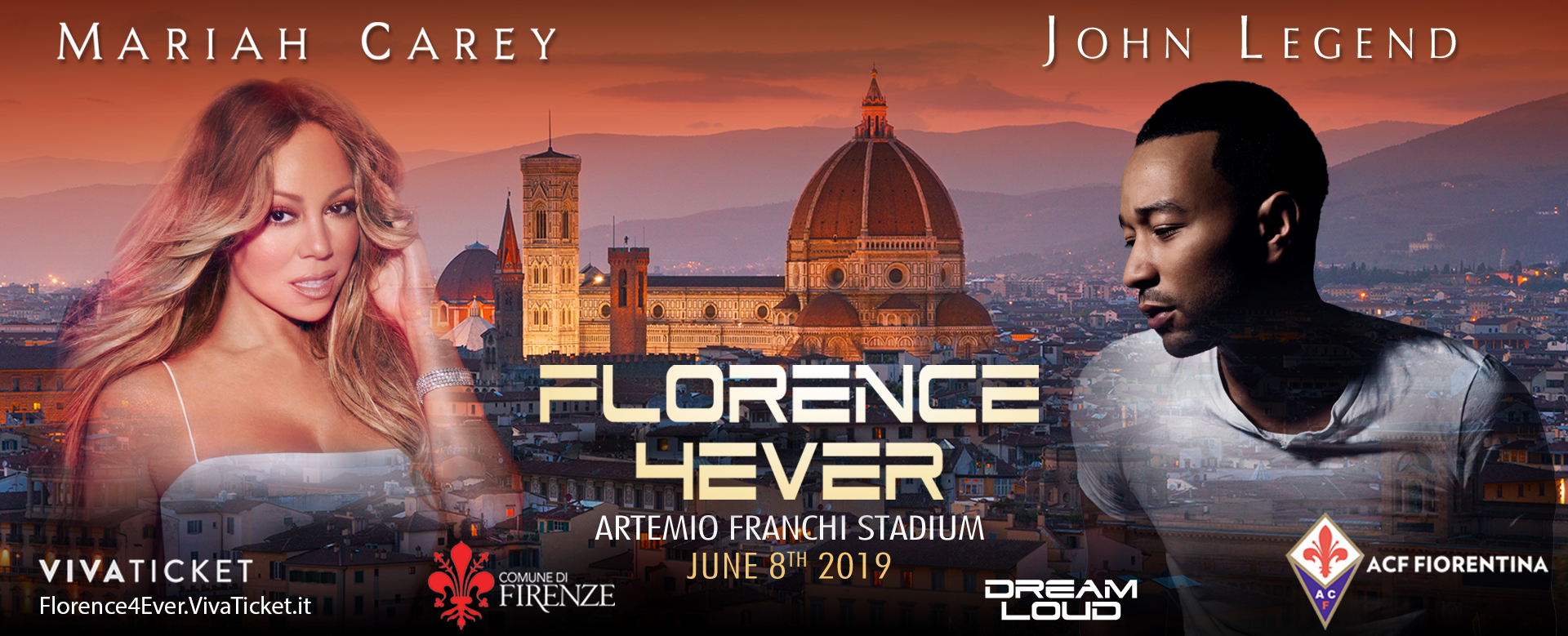 Florence4Ever poster with Mariah Carey and John Legend