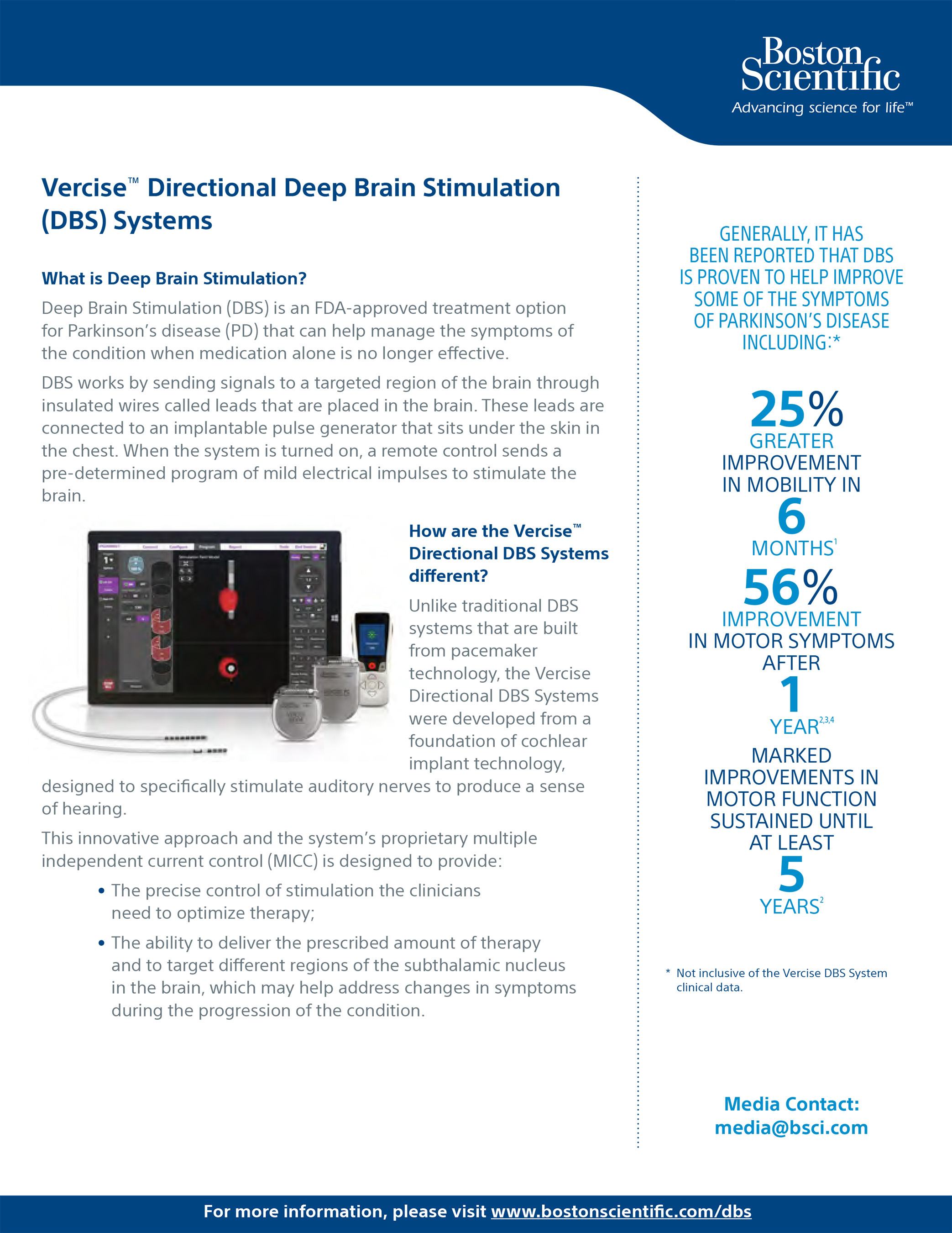 Vercise™ Directional Deep Brain Stimulation (DBS) Systems Fact Sheet