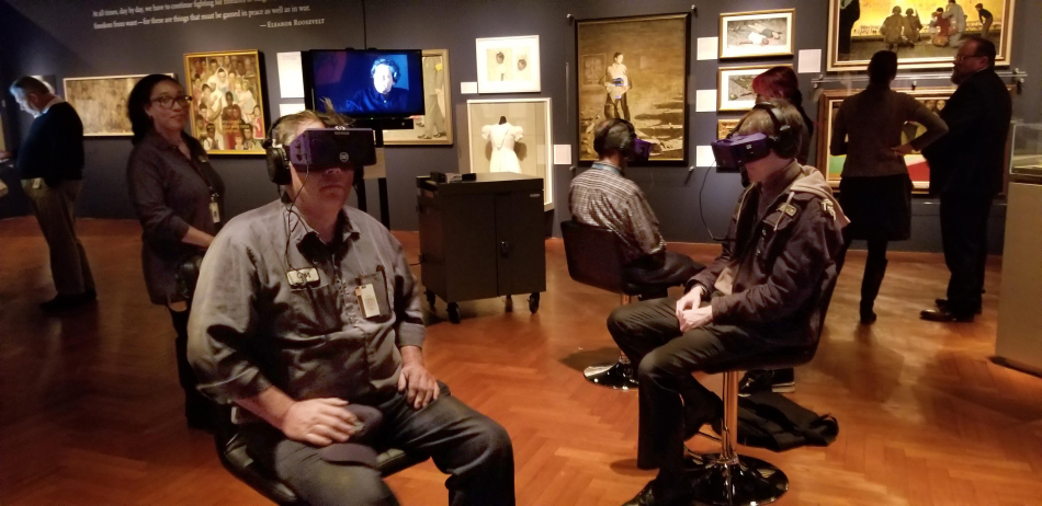 For the past 3 months, over 35,000 people have put on an Oculus VR device at the Henry Ford Museum in Dearborn, Michigan. Photo Credit: Academy of Art