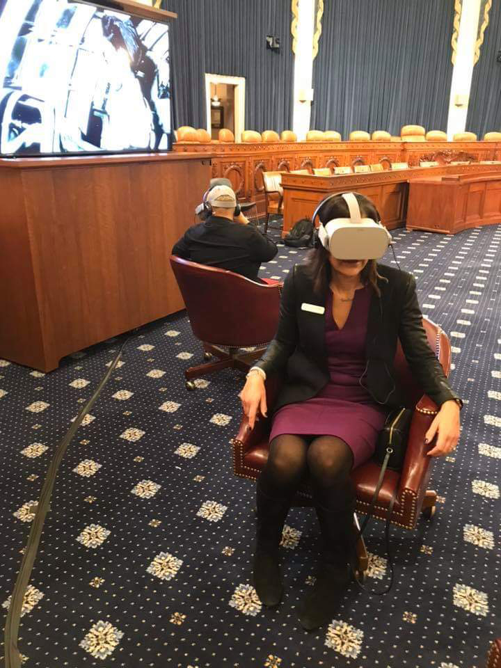 Academy of Art University recently presented an interactive virtual reality (VR) project to members of Congress and their guests in the House of Representatives Ways and Means Hearing Room in Washington D.C. Photo Credit: Academy of Art