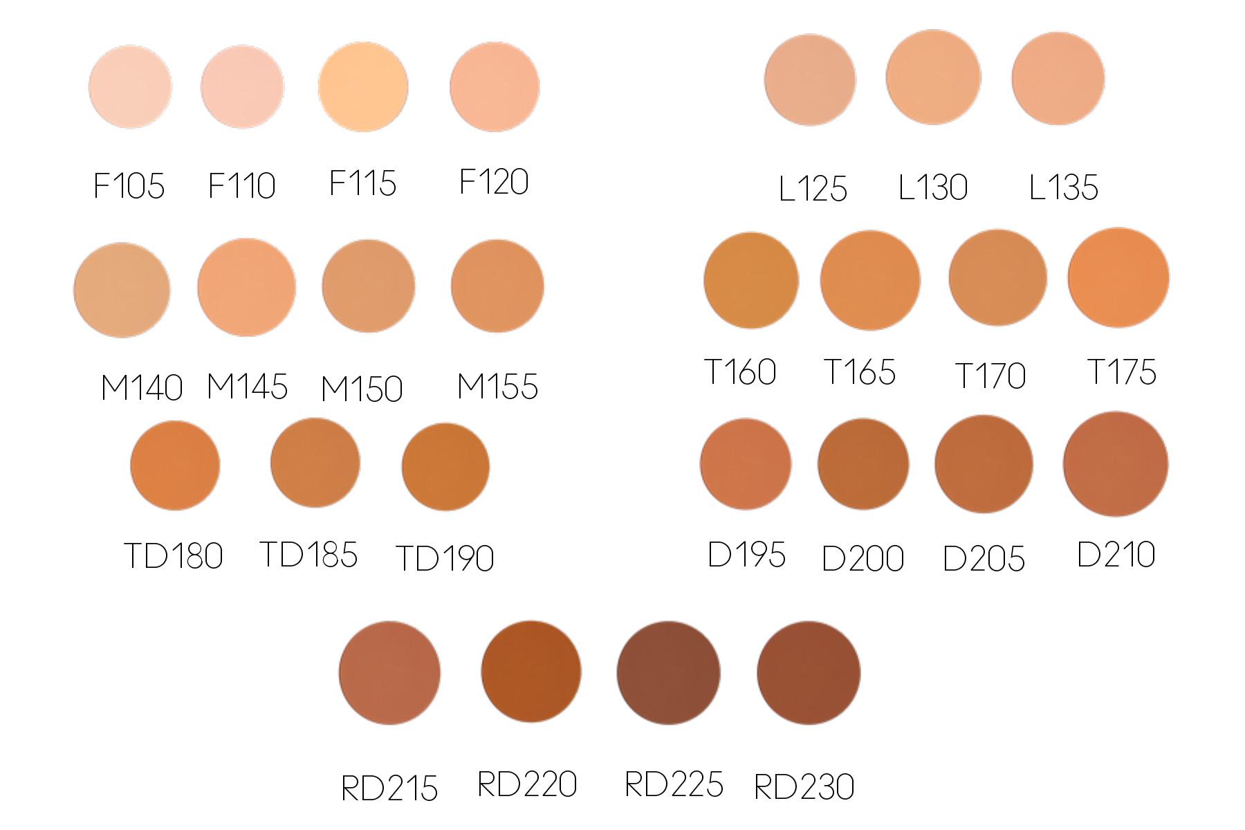 Kat Von D Beauty Lock-It Powder Foundation Shade Range