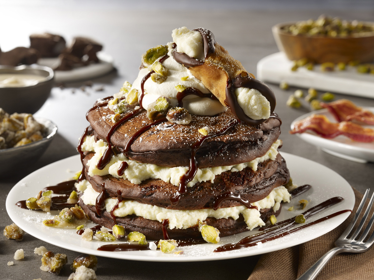 Chocolate Cannoli Pancakes