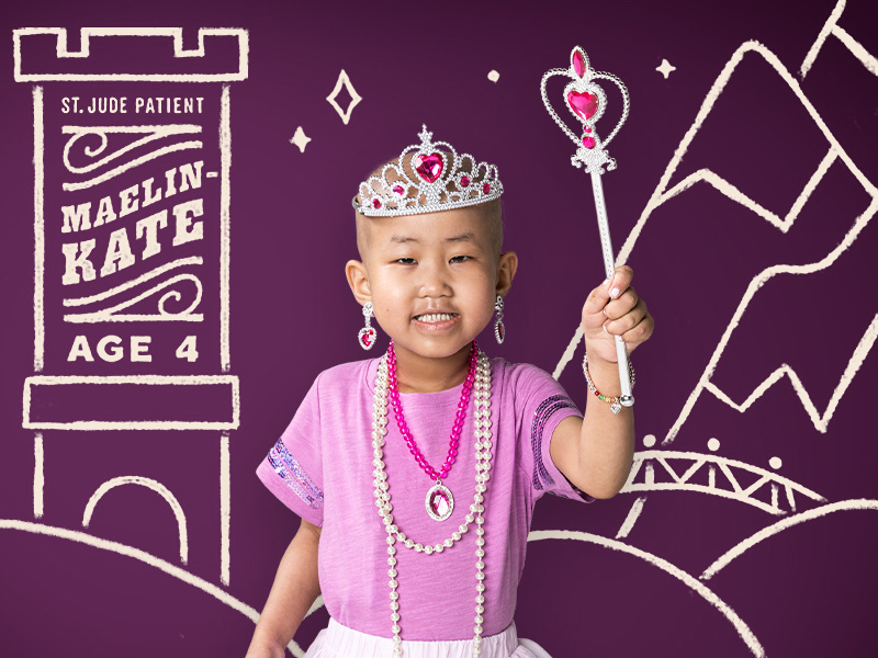 """Maelin-Kate dreams big...""""fairytale princess"""" big. She's being treated for anemia at St. Jude Children's Research Hospital®. And the doctors there are helping make sure Maelin-Kate keeps dreaming big."""