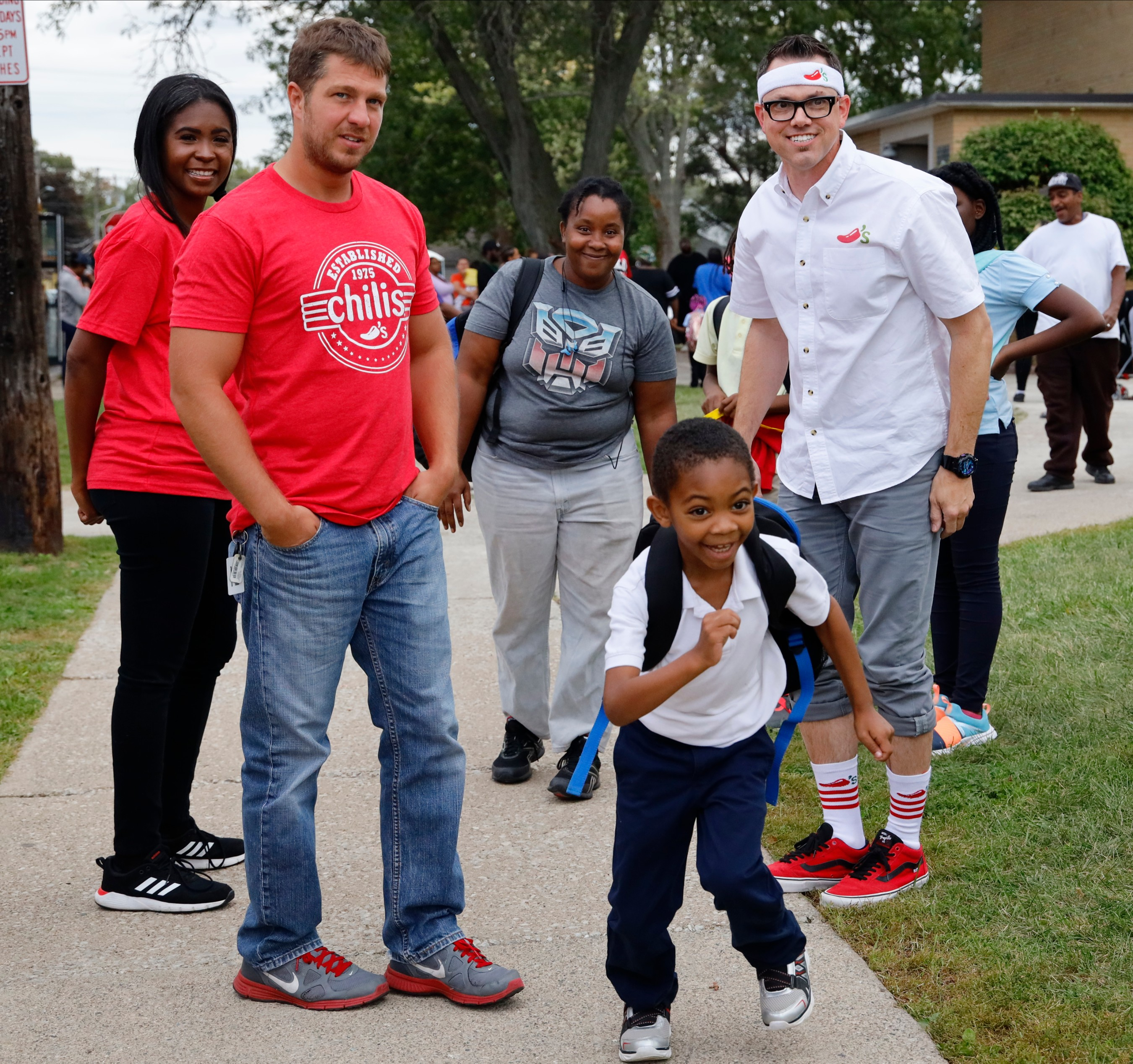 Chili's surprise and delights kids during after school pick up with one-of-a-kind bus ride.