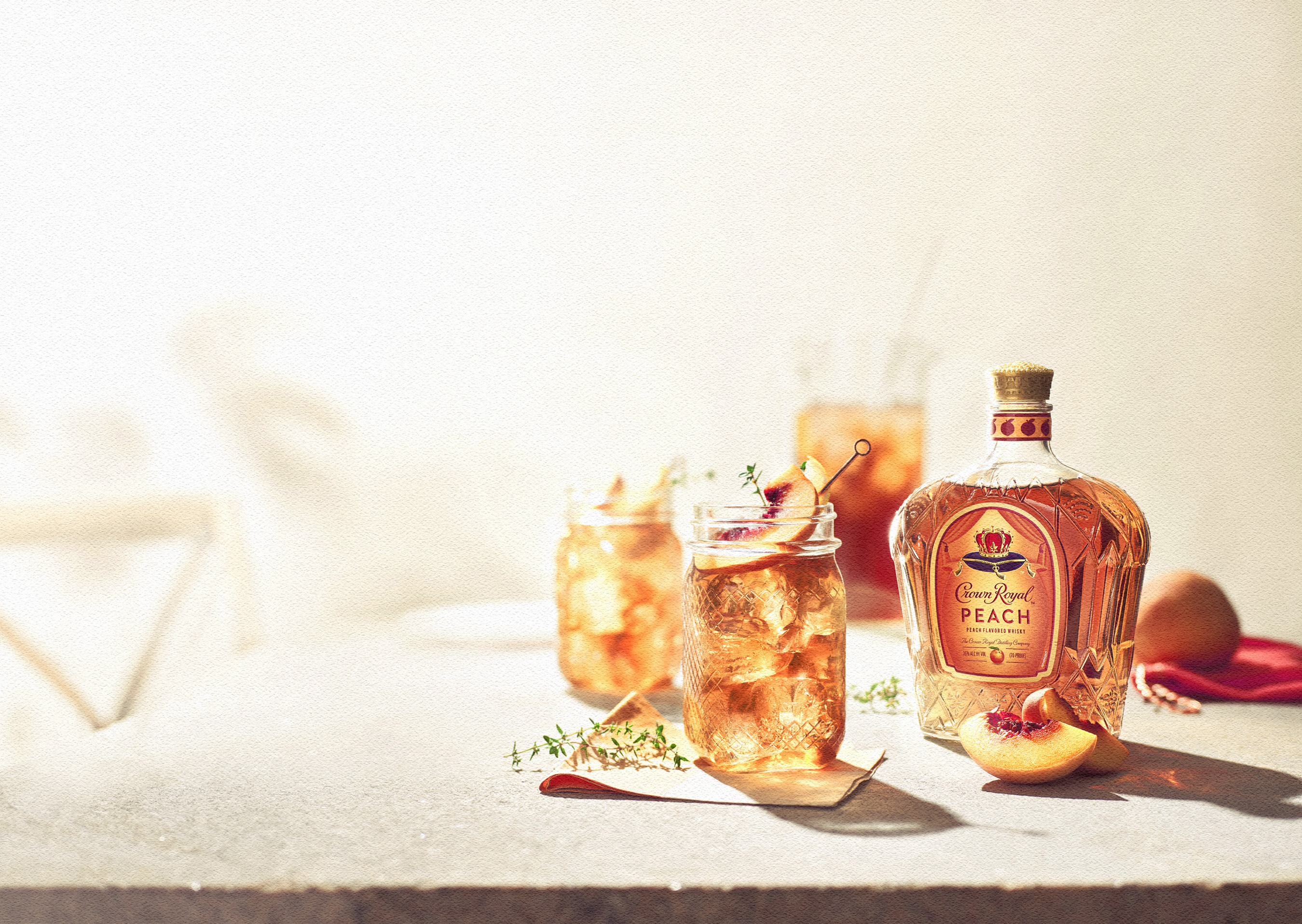 Enjoy a Royal Peach Tea this spring and summer to celebrate the launch of Crown Royal Peach.