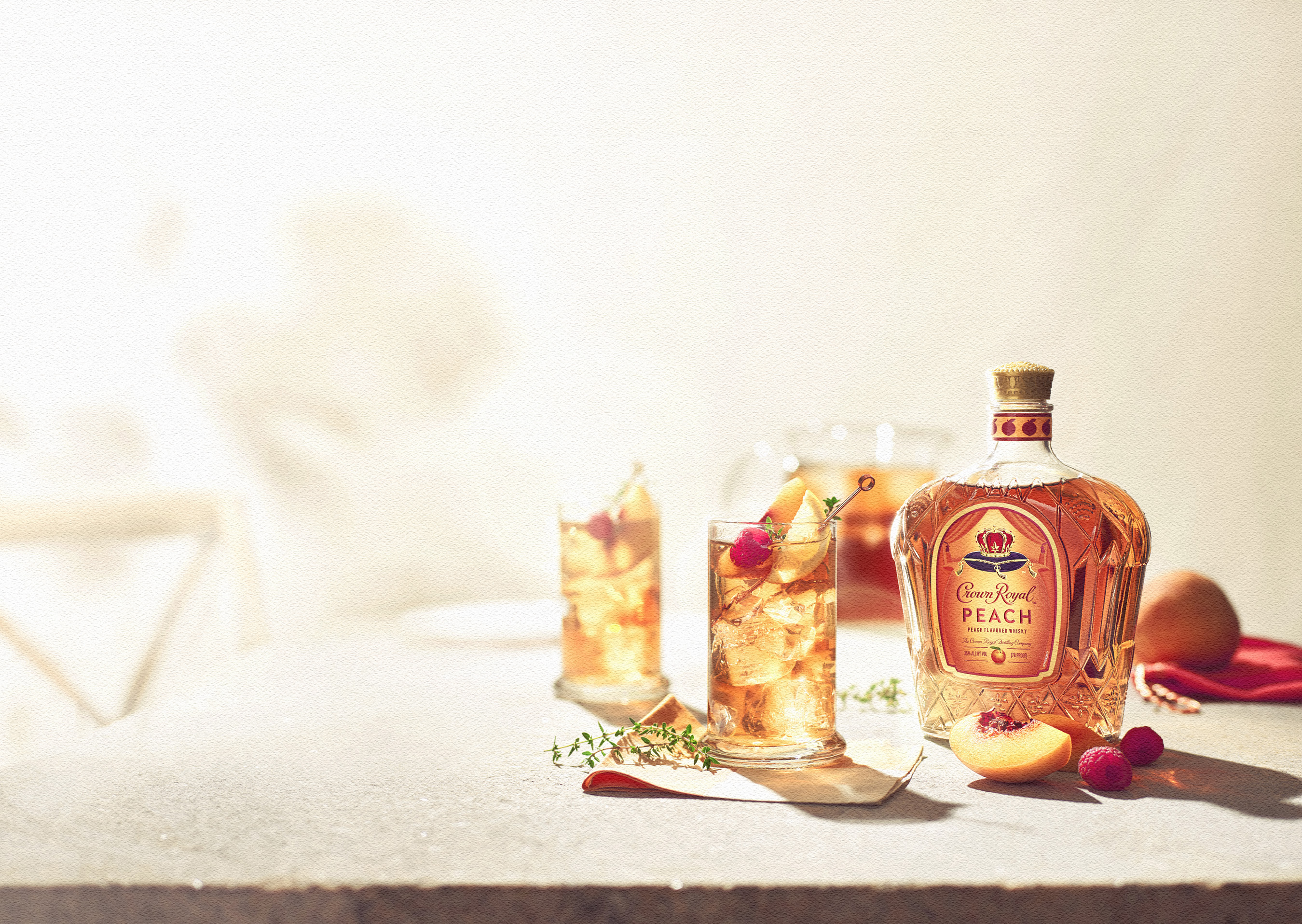 Crown Royal Peach is an easy-sipping whisky, perfect for spending time with your friends and family.