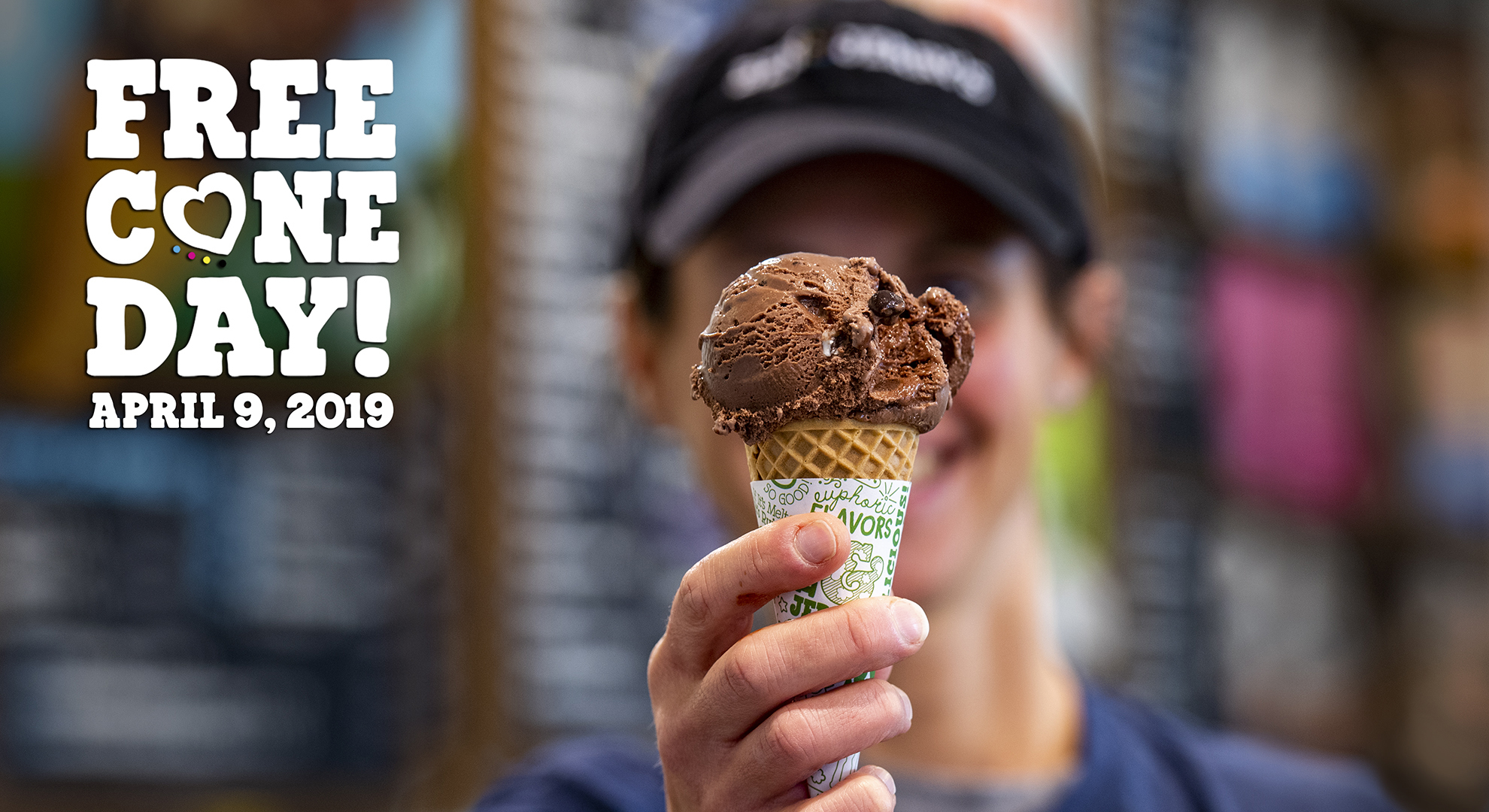 Ben & Jerry's Scoop Shops around the world will participate in Free Cone Day on April 9.