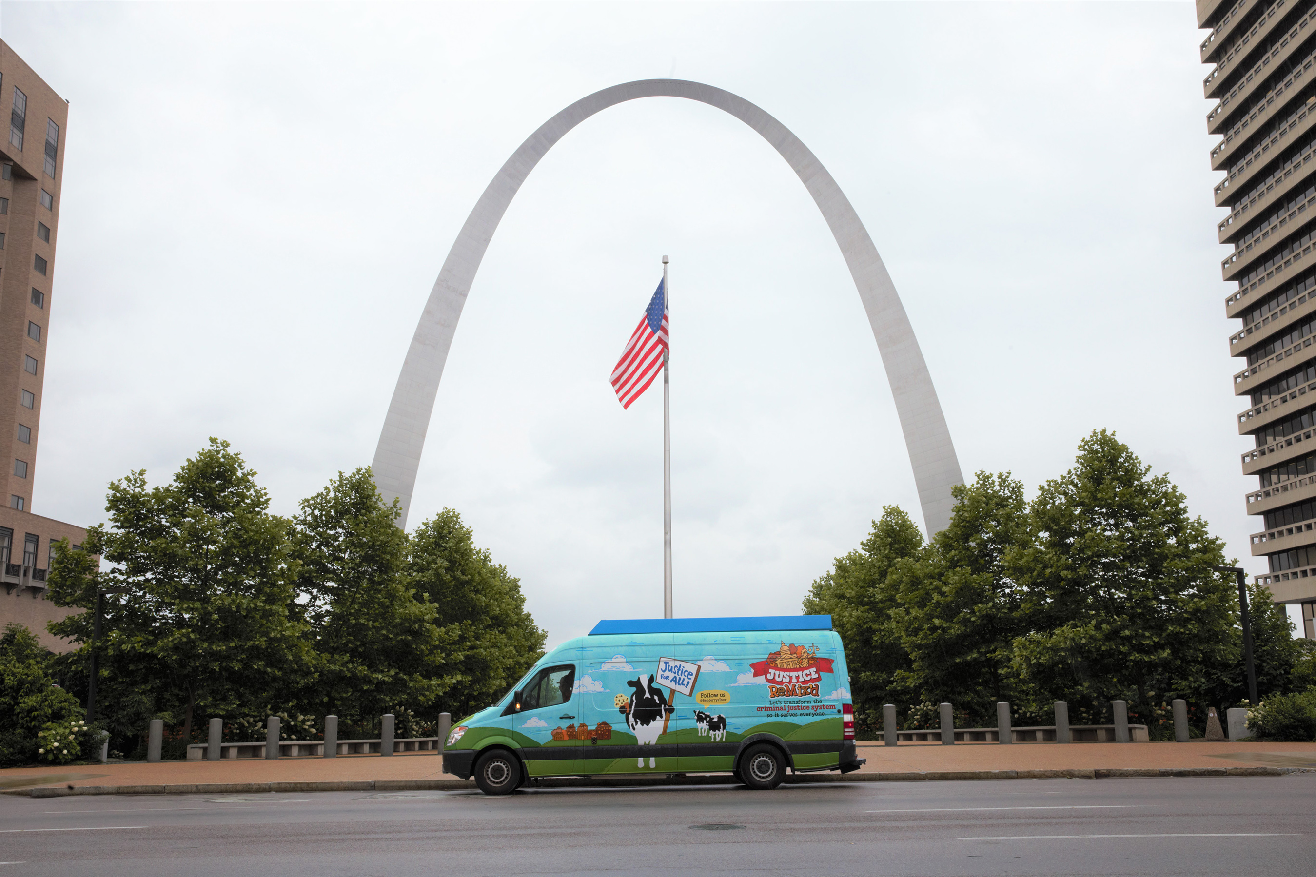 Ben & Jerry's sent its Scoop Truck to St. Louis to encourage people to contact their city representatives about the need to close The Workhouse jail.