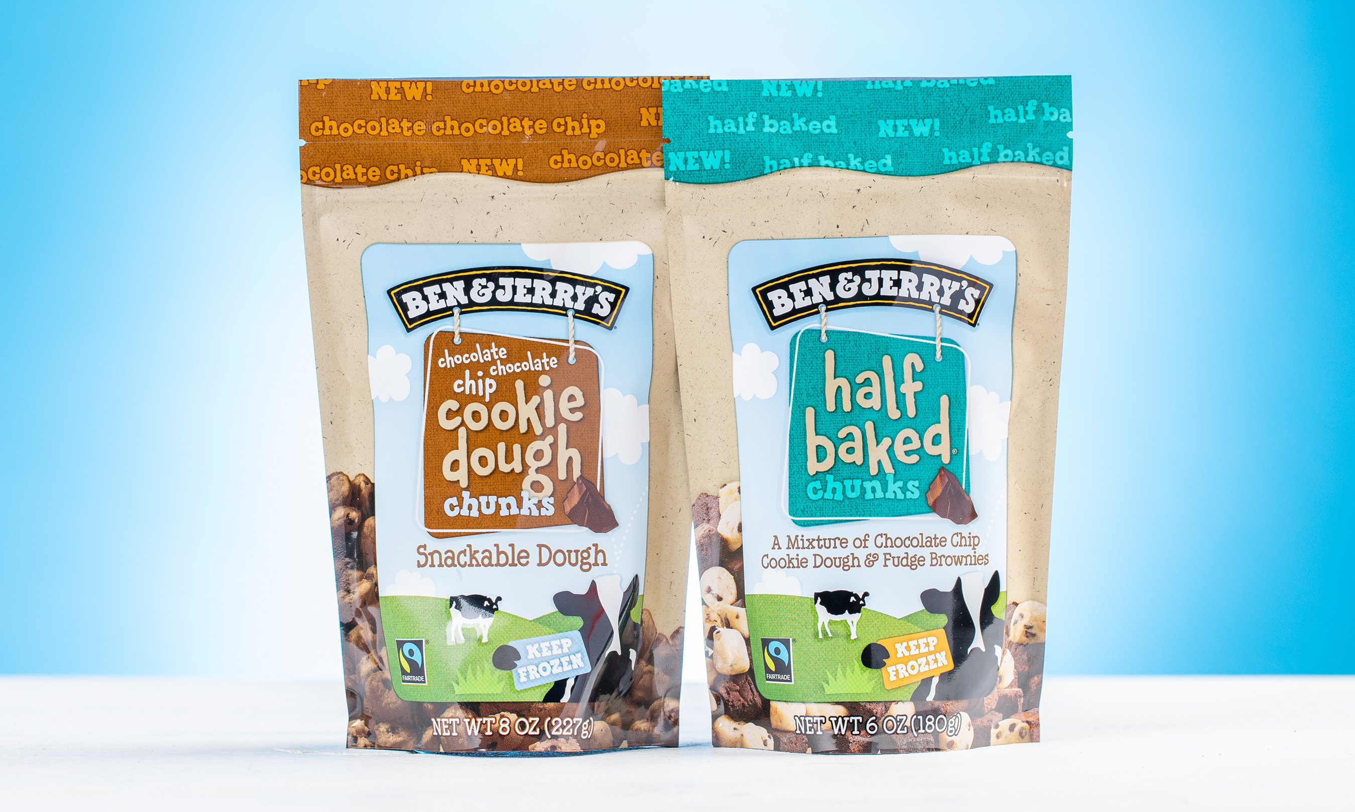 Ben & Jerry's has added two new flavors to their collection of cookie dough chunks. Drop your spoon and dig in!