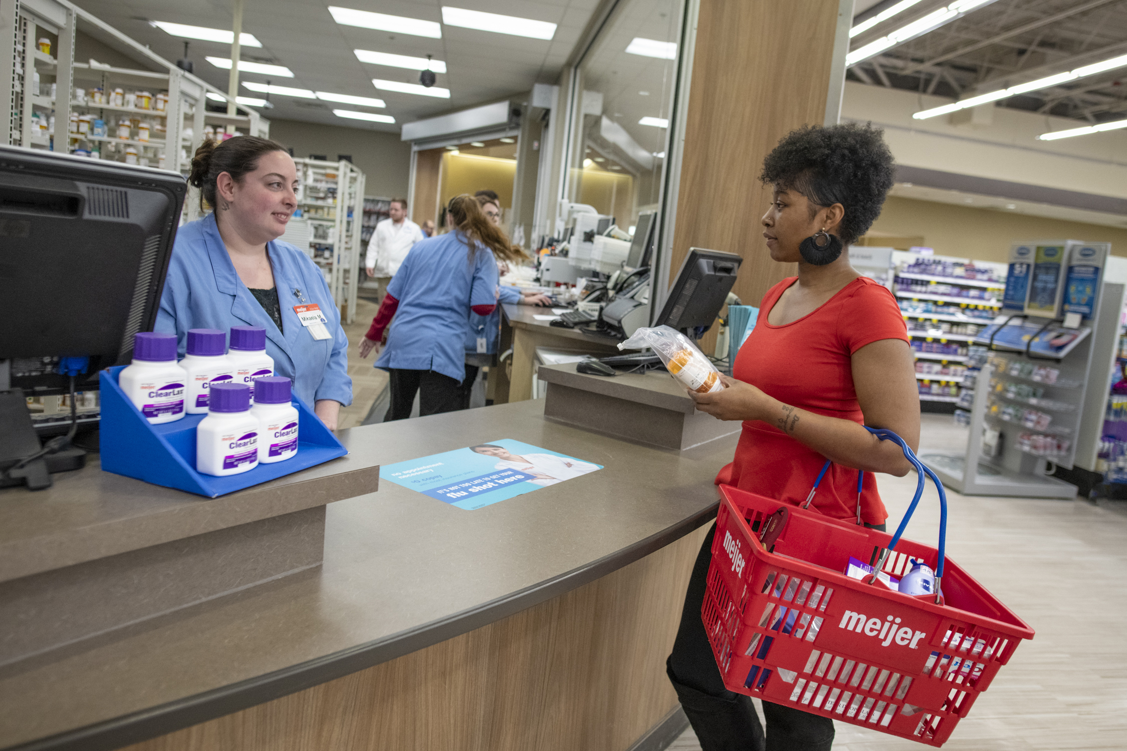 Meijer pharmacists work in partnership with InMar Rx Returns to properly document, transport and dispose of medications on a regular basis.