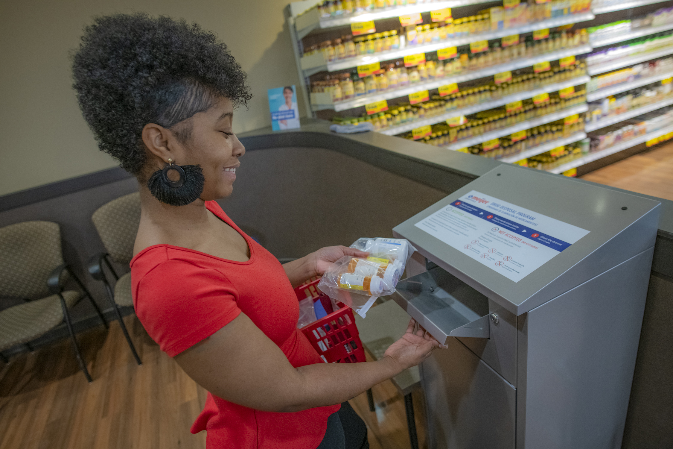 Customers can use the kiosks during pharmacy hours to dispose any unused, unwanted or expired medications - including opioids, controlled substances, and over-the-counter medications.