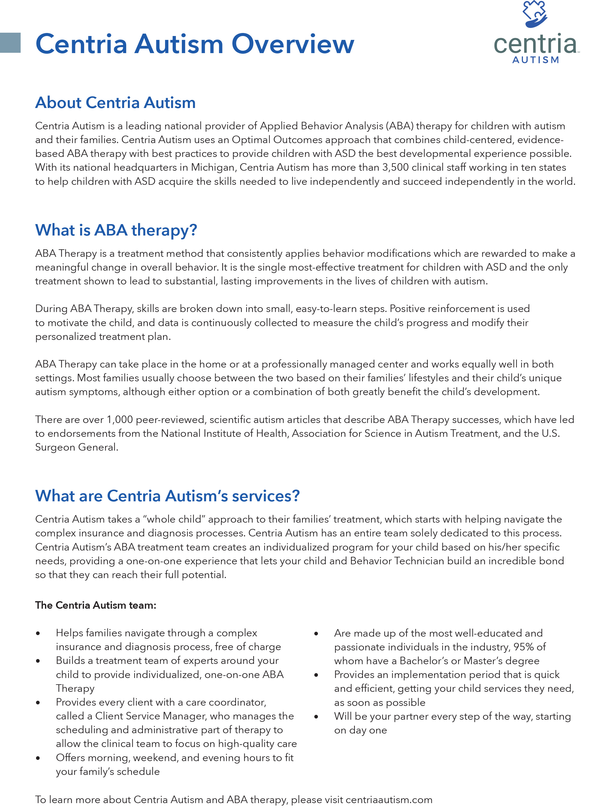 Aba Releases Findings And >> Treatment For Children With Autism Delayed By More Than One Year On