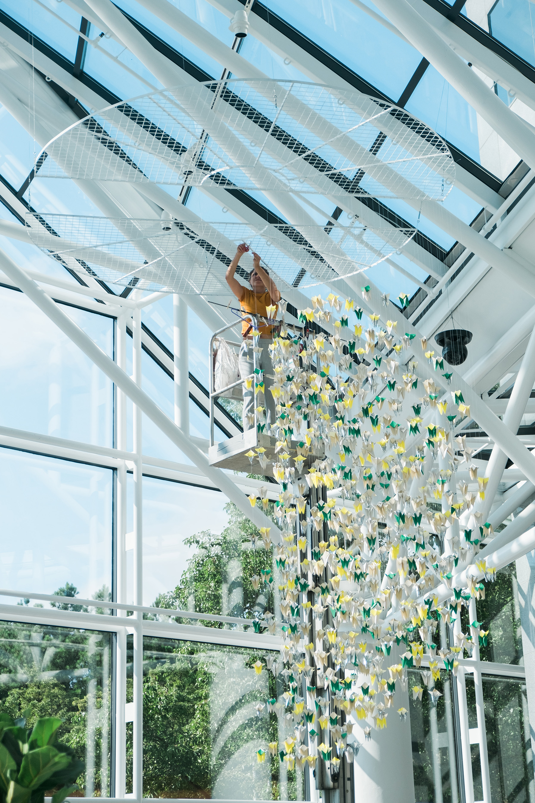 By turning the guilts into a beautiful masterpiece, the artists created an installation to serve as a reminder for parents that there is no such thing as a perfect parent, and that's perfectly okay.
