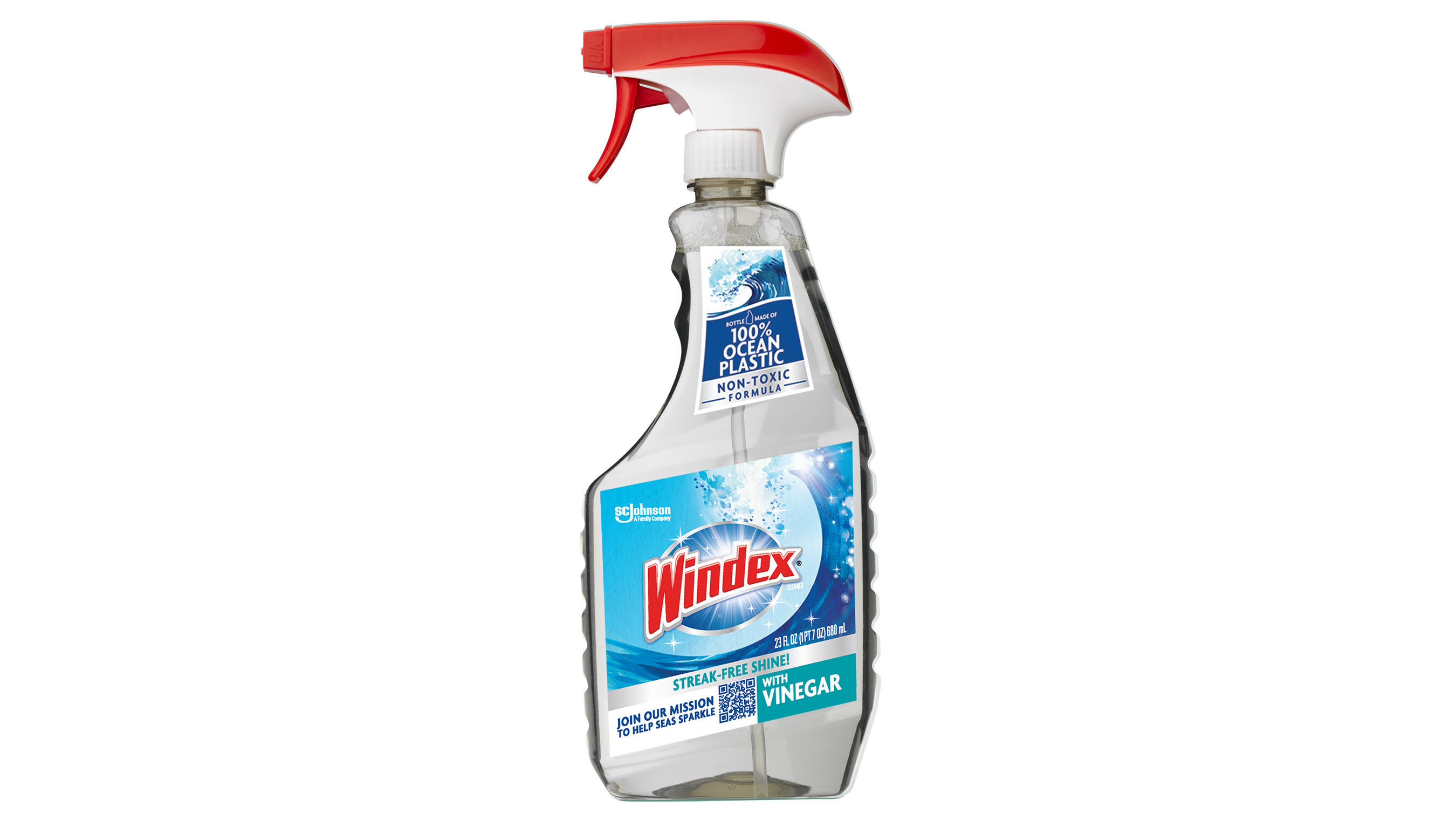 Windex® Vinegar Ocean Plastic Bottle