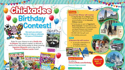Chickadee Magazine Celebrates 40 Years