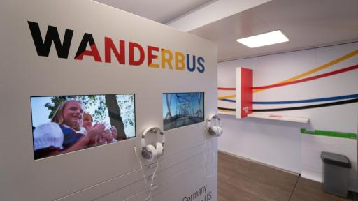 screens displaying WanderbUS video and images