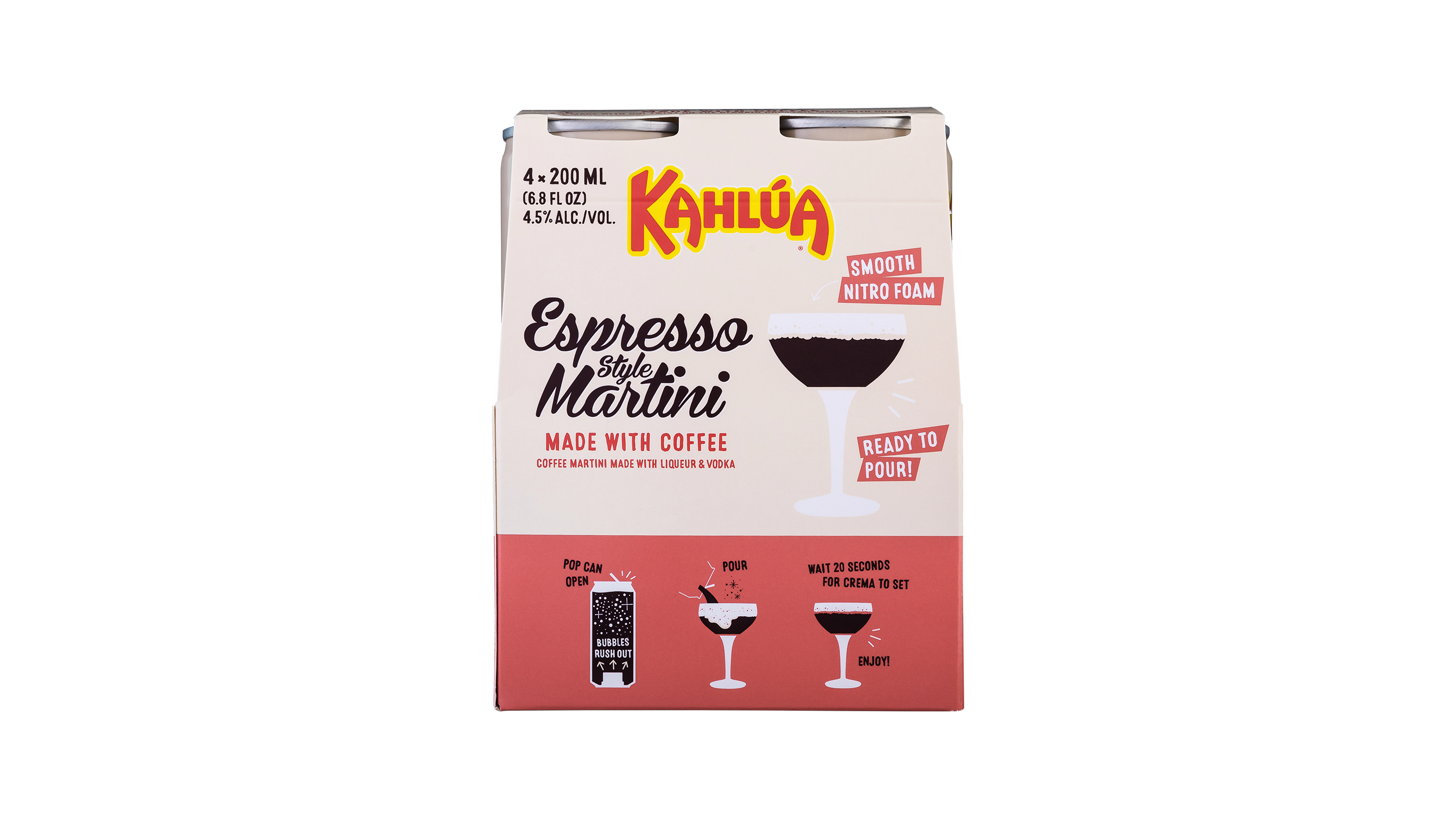 Kahlúa Espresso Style Martini ready-to-drink (RTD) four-pack