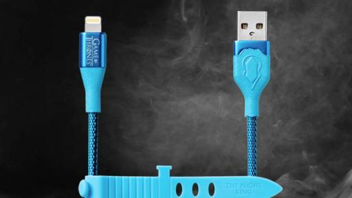 Blue Night King charging cables.
