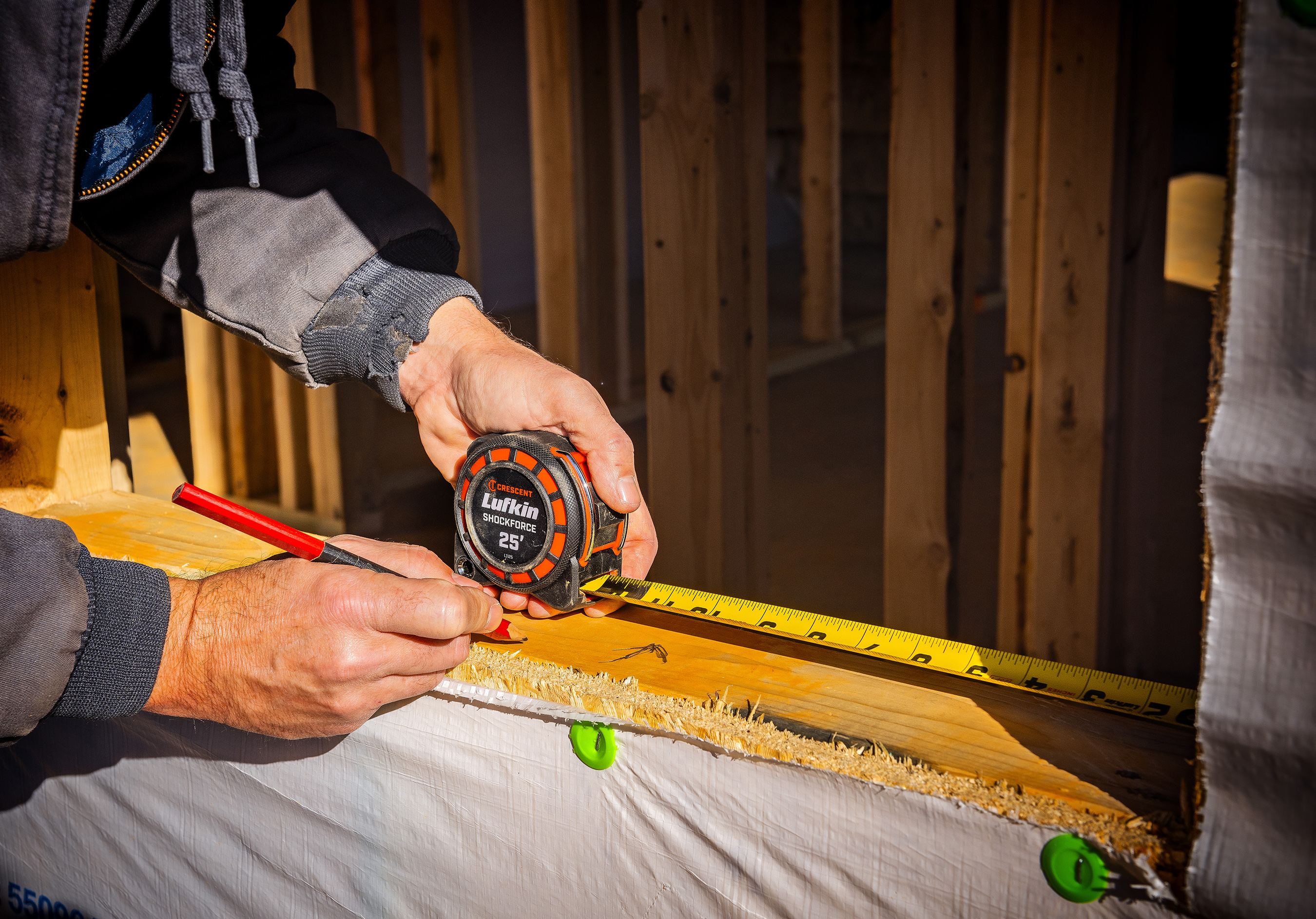 New Crescent Lufkin® Shockforce™ and Shockforce Nite Eye™ tapes are built to take a beating on the jobsite and can withstand a 100-foot drop.