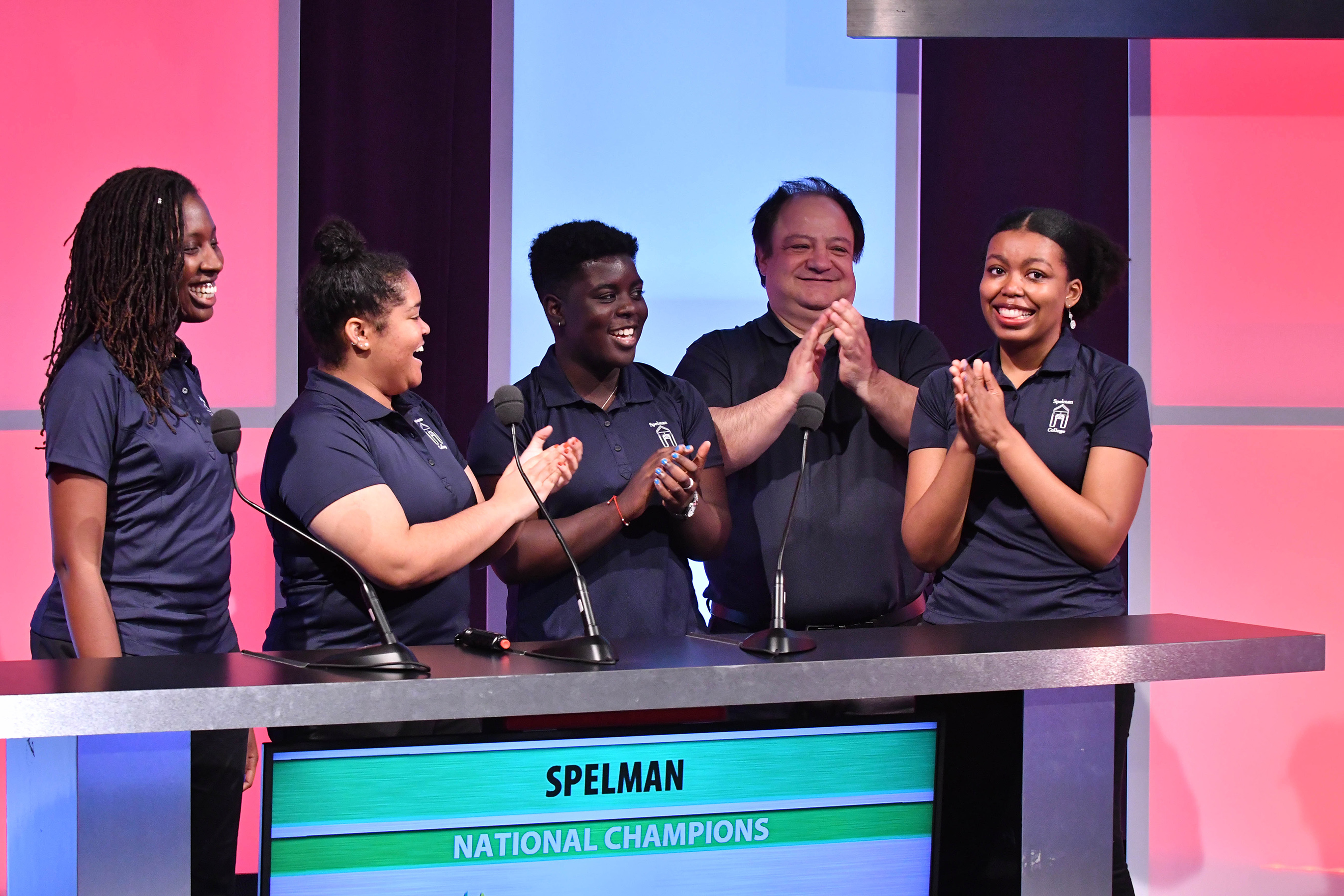Spelman College took home the championship title and a $75,000 institutional grant at the 30th annual Honda Campus All-Star Challenge (HCASC) National Championship Tournament.