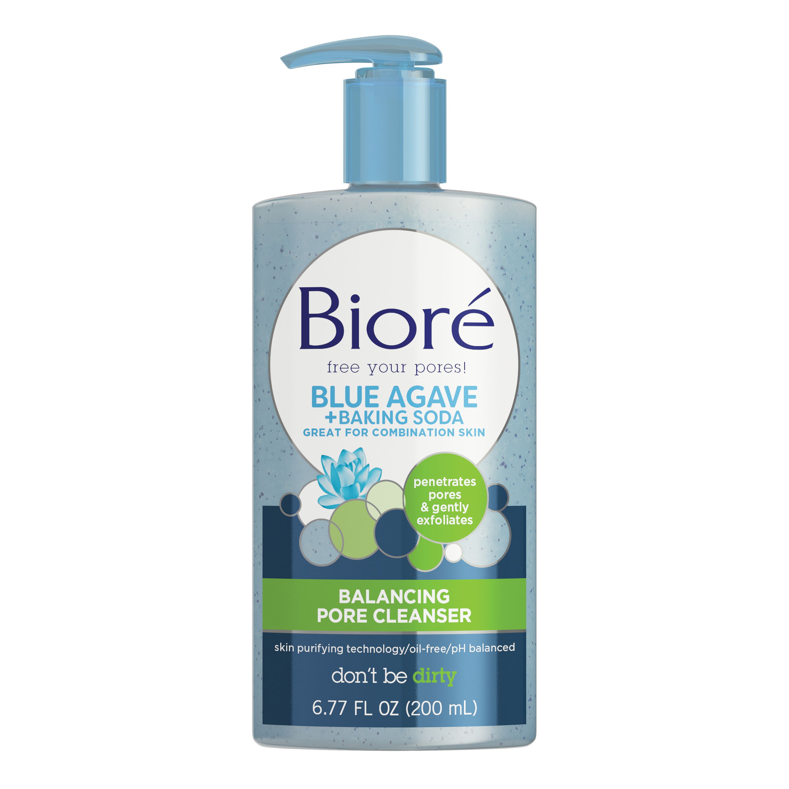 Biore(R) Blue Agave + Baking Soda Balancing Pore Cleanser