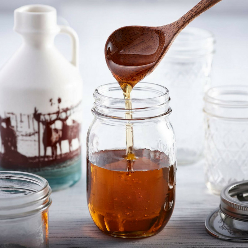 In the United States, one serving of pure maple syrup (2 tbsp or 30 ml) is an excellent source of manganese (35 percent of daily value) and a good source of riboflavin (15 percent of daily value).