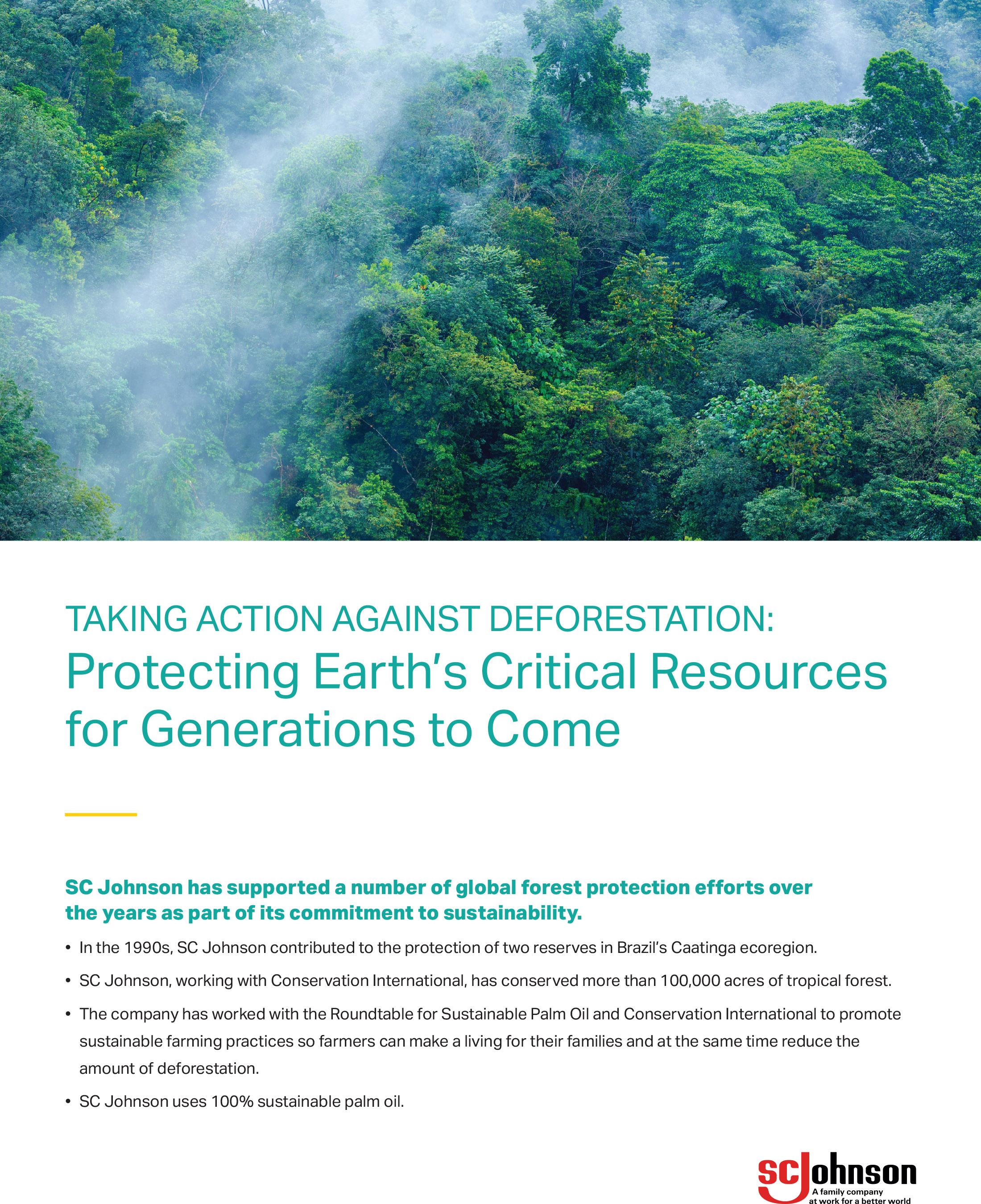 Fisk Johnson Raises Awareness of Deforestation