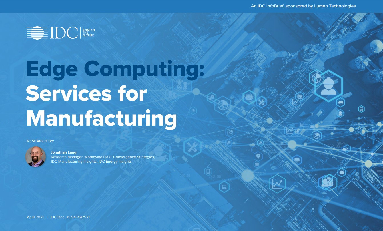 Edge computing is key to connecting operational data and assets for manufacturers.