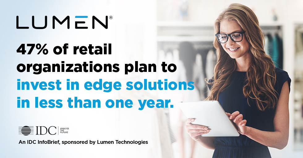 47% of retail organizations plan to invest in edge solutions in less than one year