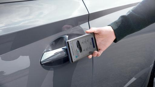 The new Sonata supports Hyundai Digital Key via a dedicated smartphone app