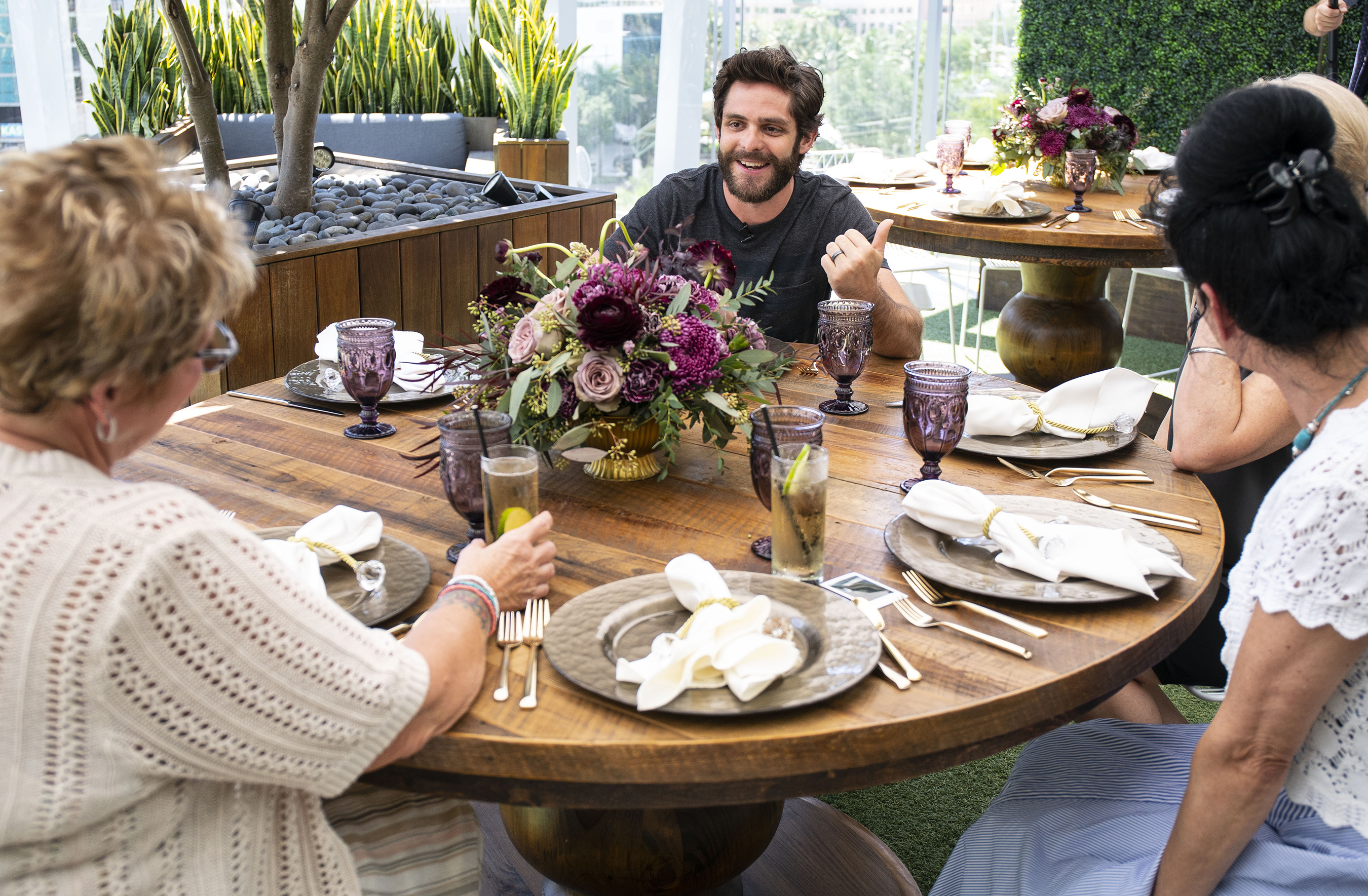 As part of the Crown Royal Mother's Day program, Thomas Rhett sat down with the moms to discuss their experiences and selflessness as Mothers of Military.