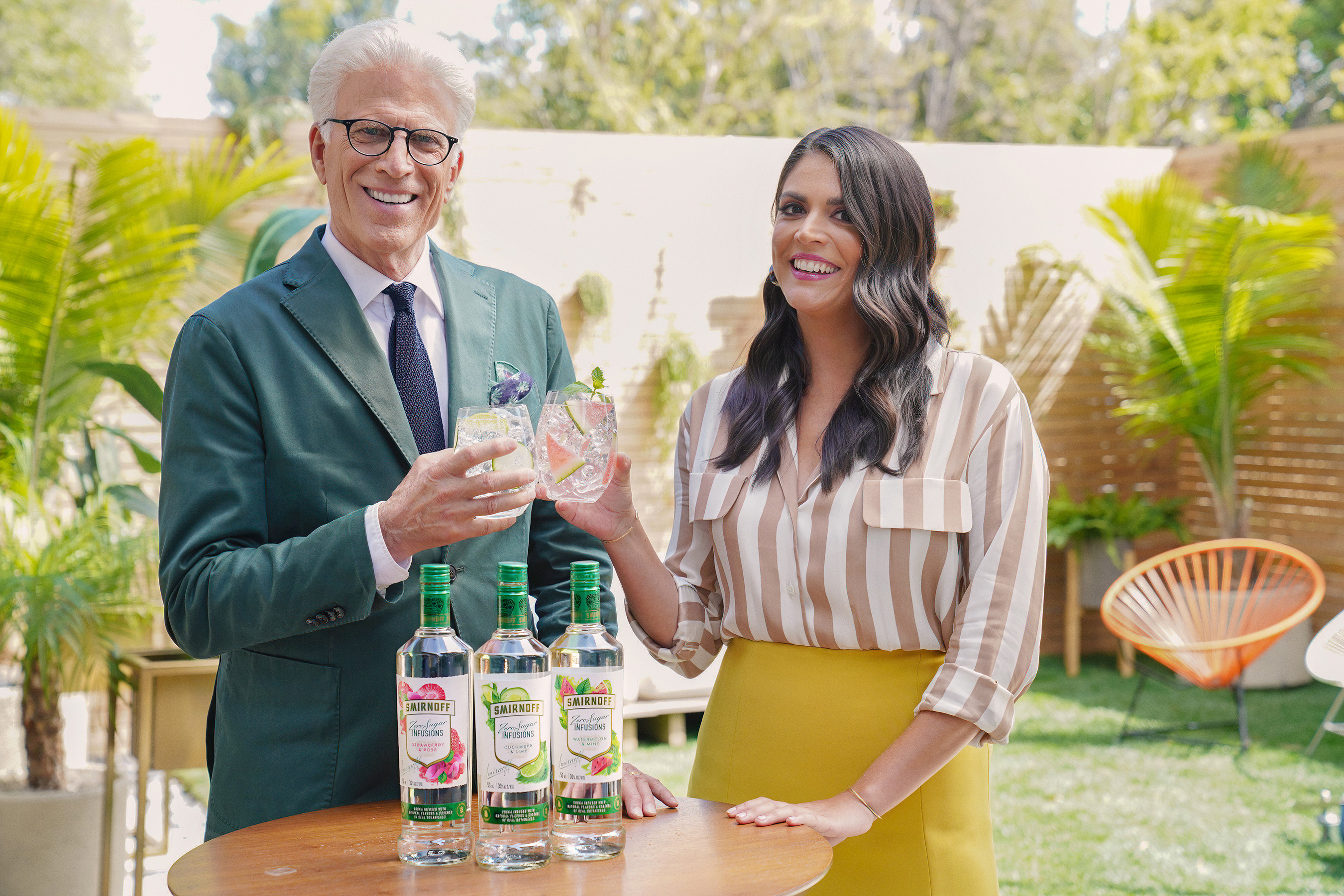 Ted Danson and Cecily Strong Raise A Glass To New Smirnoff Zero Sugar Infusions