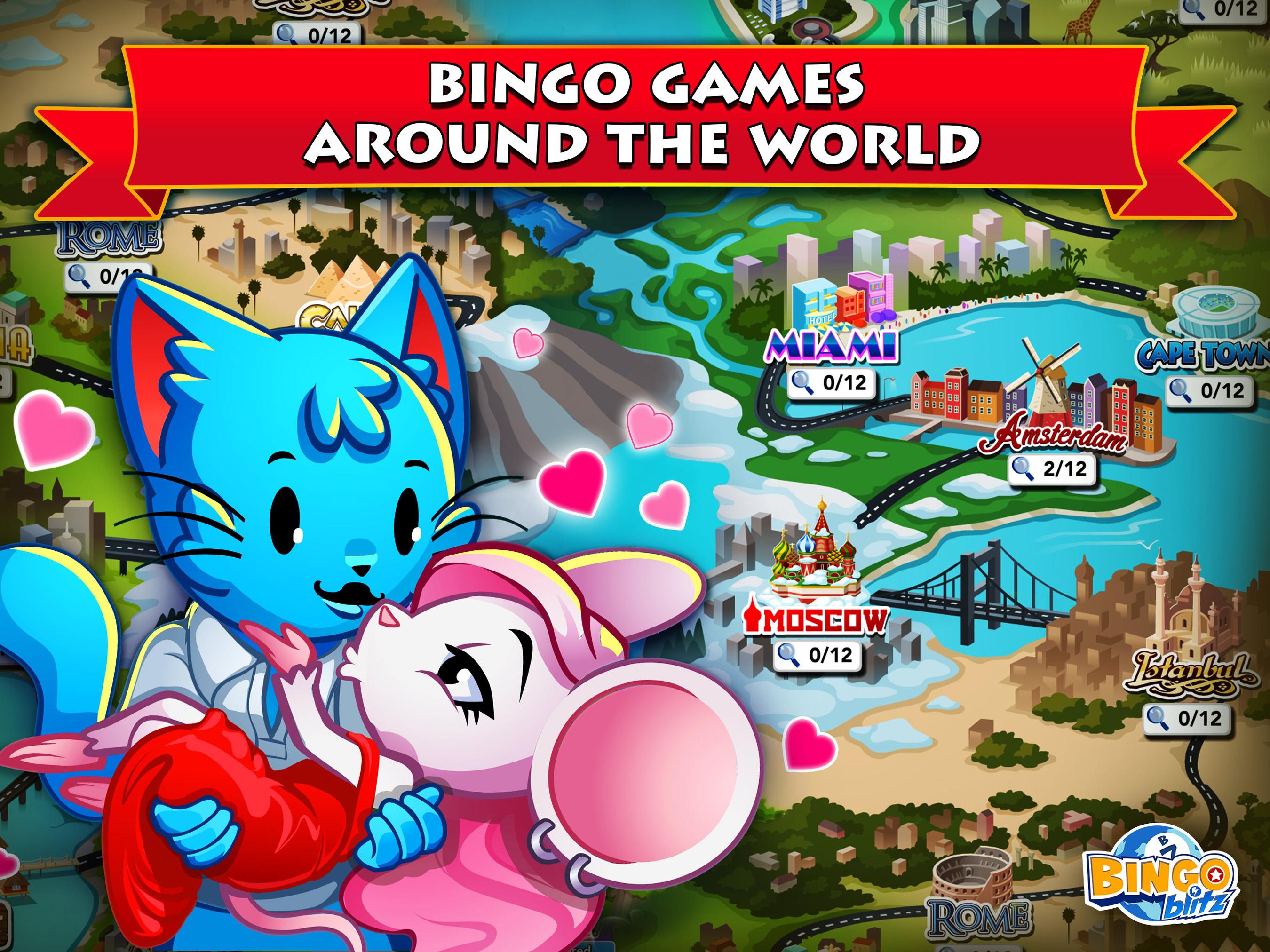 Round-the-World Bingo Party!