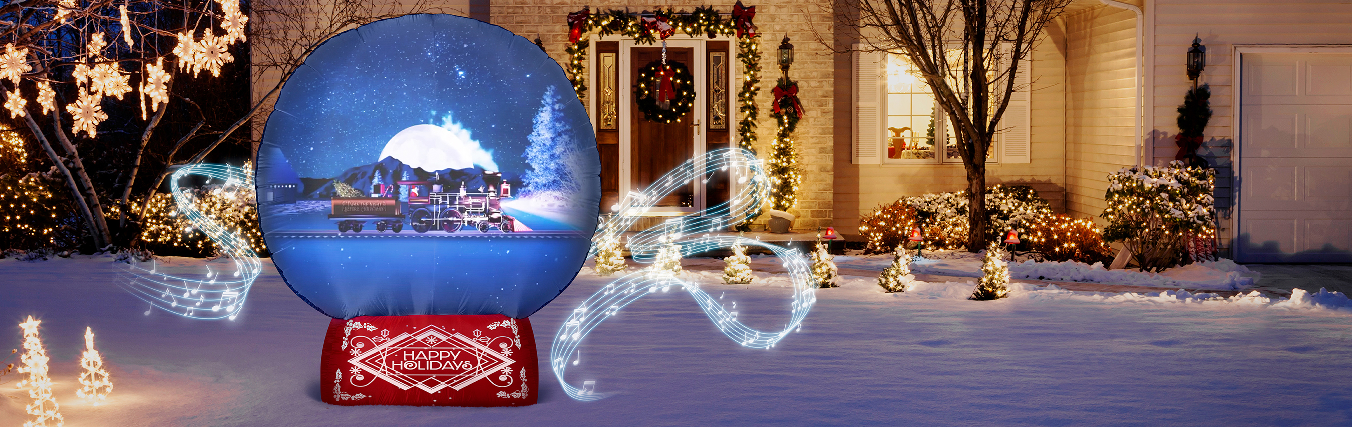 Christmas Scenes.Introducing Living Projection For Halloween And Christmas