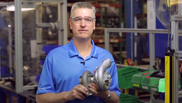 John Norton, BorgWarner Turbo Systems Staff Engineer talks about the EFR 7163 turbo used in Indy Car racing.