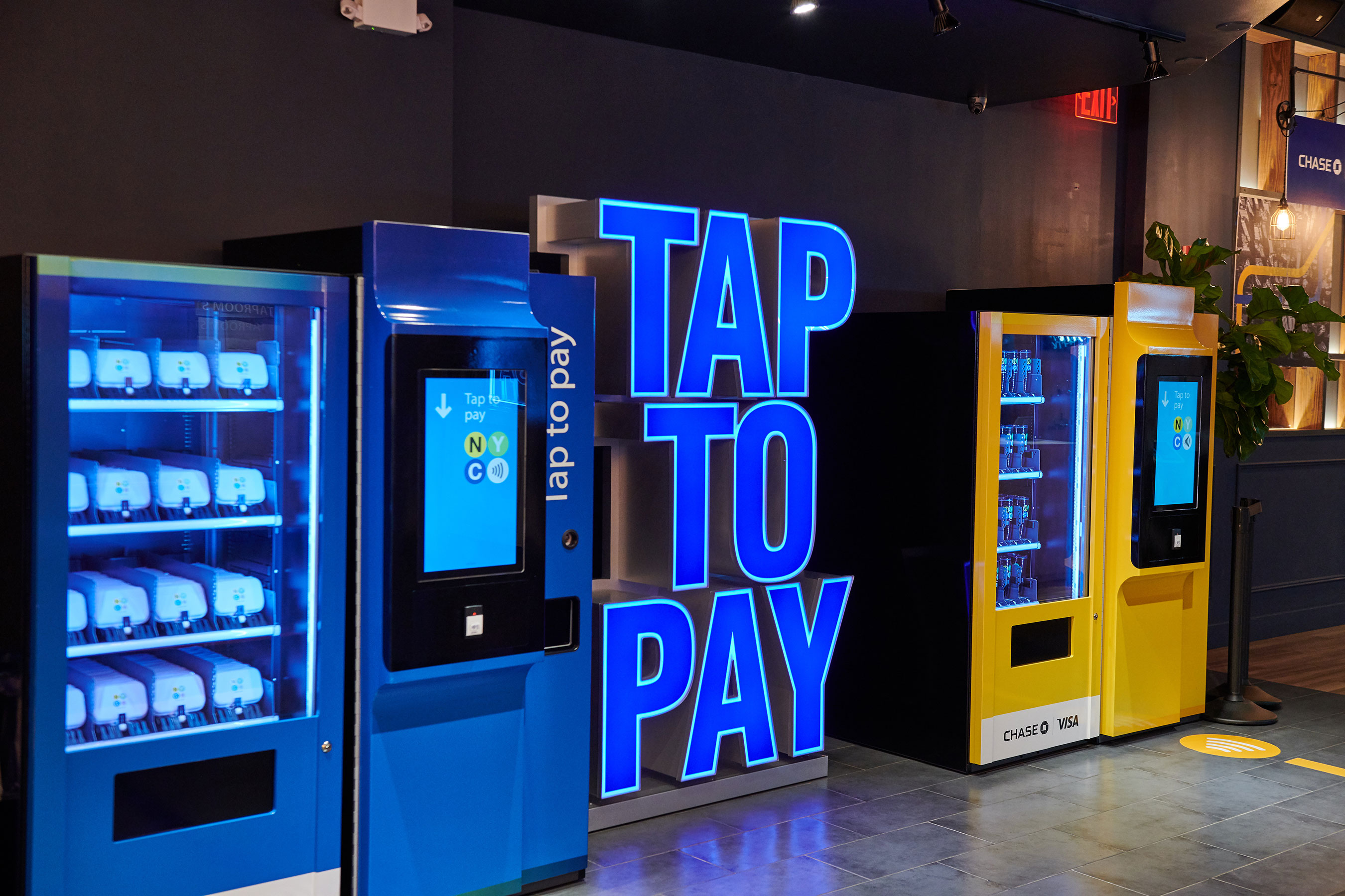 Visa and Chase celebrate the launch tap to pay cards coming to NYC public transit.