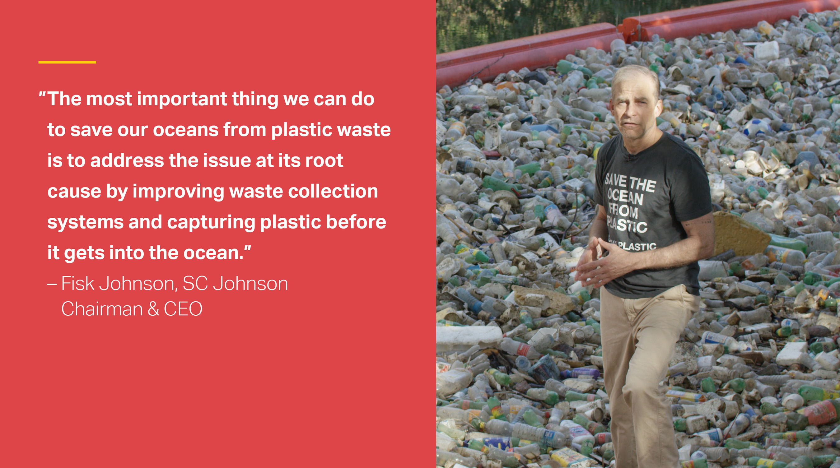 Fisk Johnson visits Panama to see steps being made to keep plastic out of the ocean.