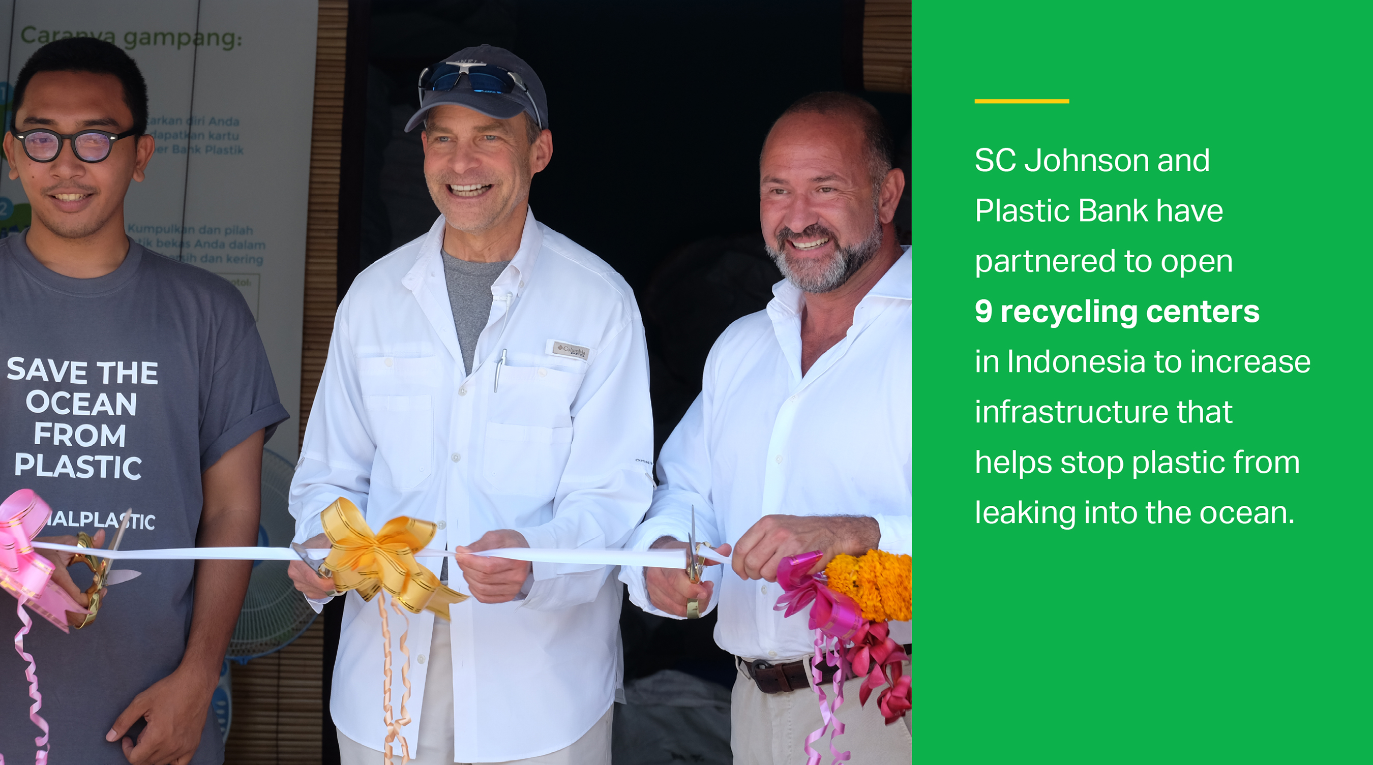 SC Johnson and Plastic Bank are working together to combat ocean plastic.