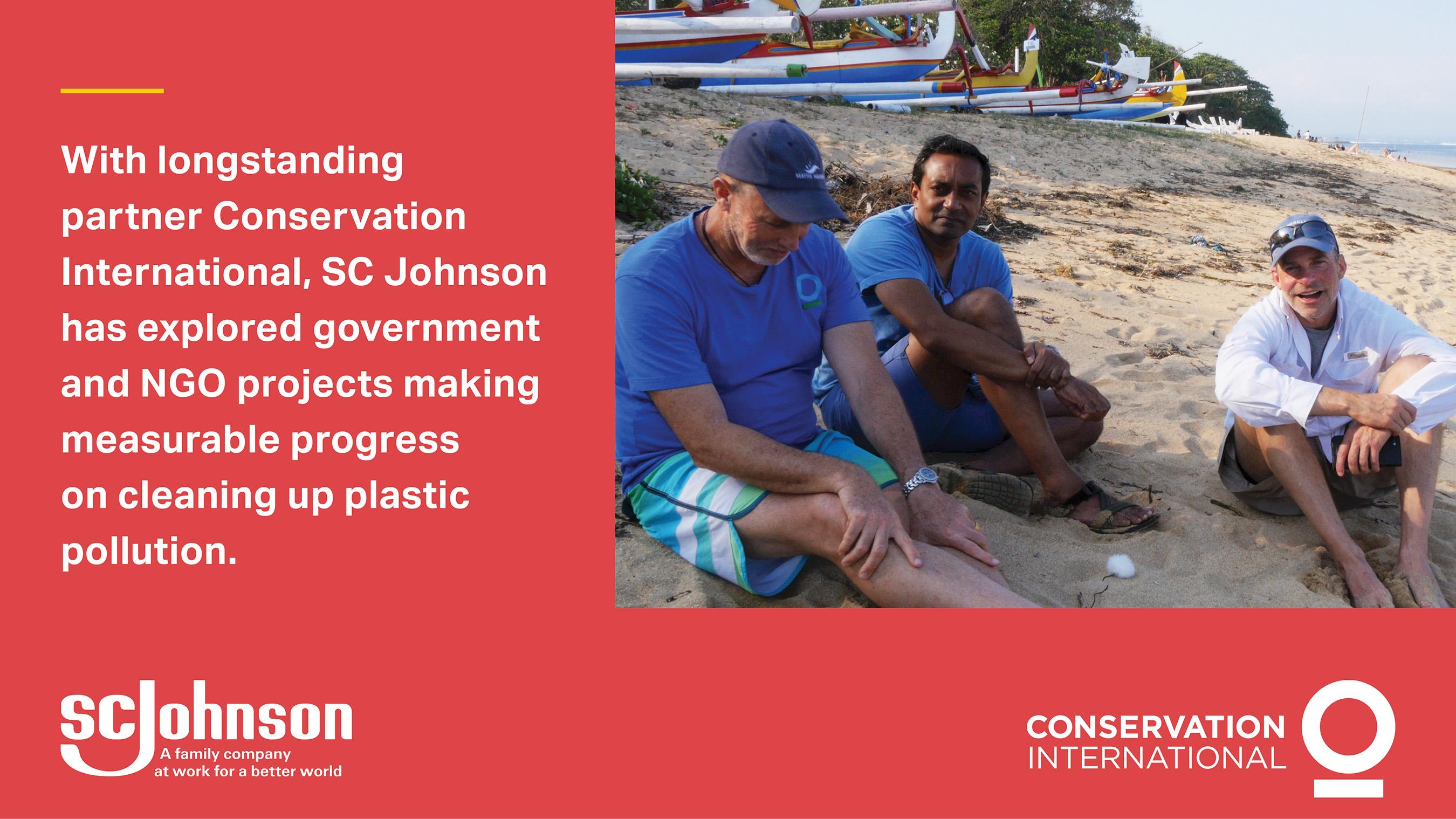 Mark Erdmann, VP Conservation International, M. Sanjayan, CEO of Conservation International and Fisk Johnson, Chairman and CEO of SC Johnson discuss ocean health.