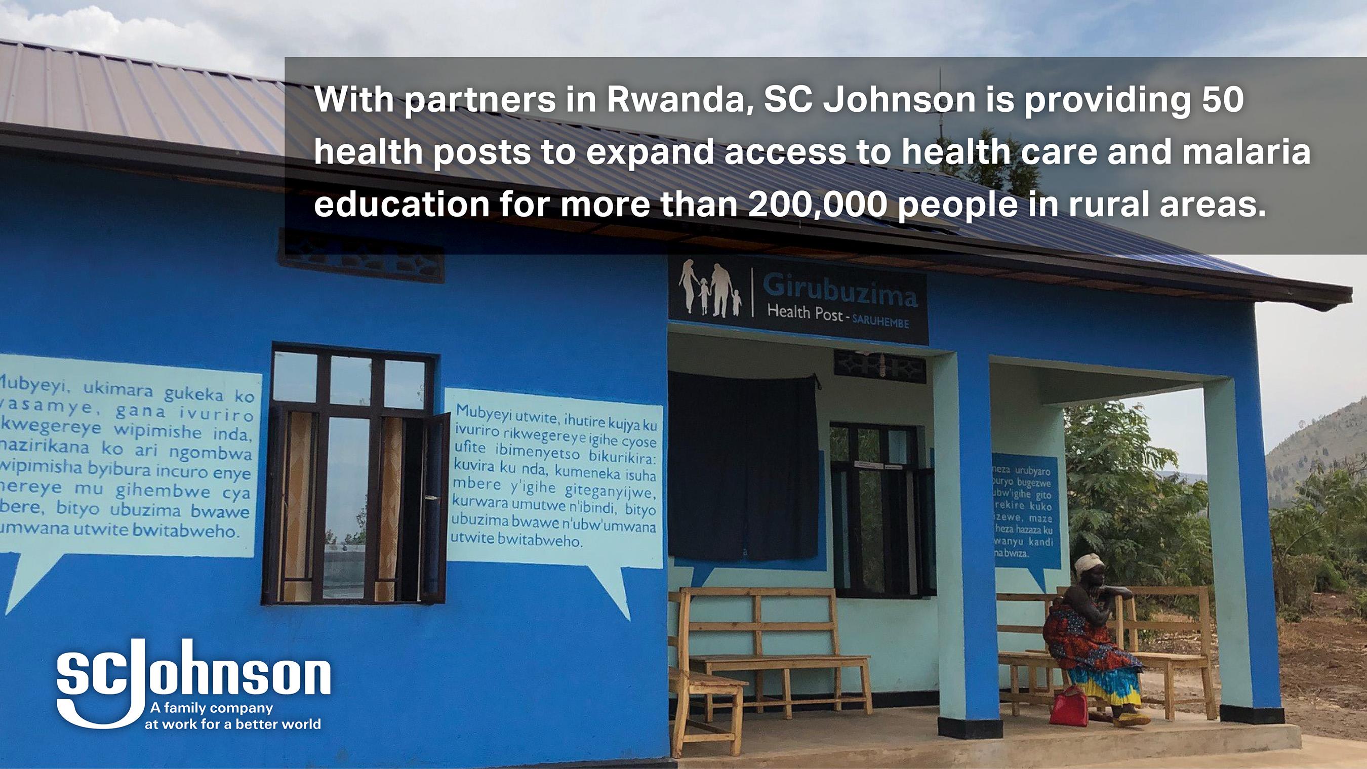 An SC Johnson sponsored health post in Rwanda.