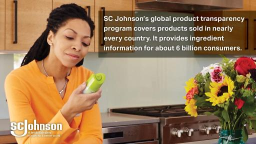 SC Johnson's industry-leading ingredient disclosure program reaches consumers around the world.