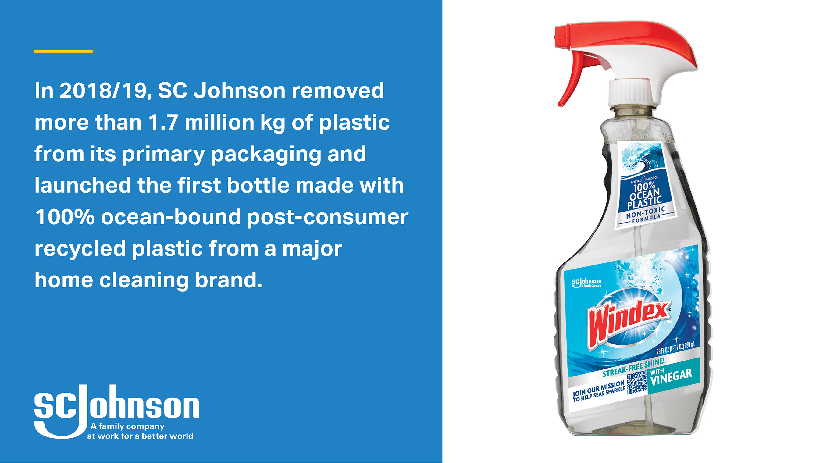 SC Johnson continues efforts to minimize plastic waste by designing unnecessary packaging out of its products.