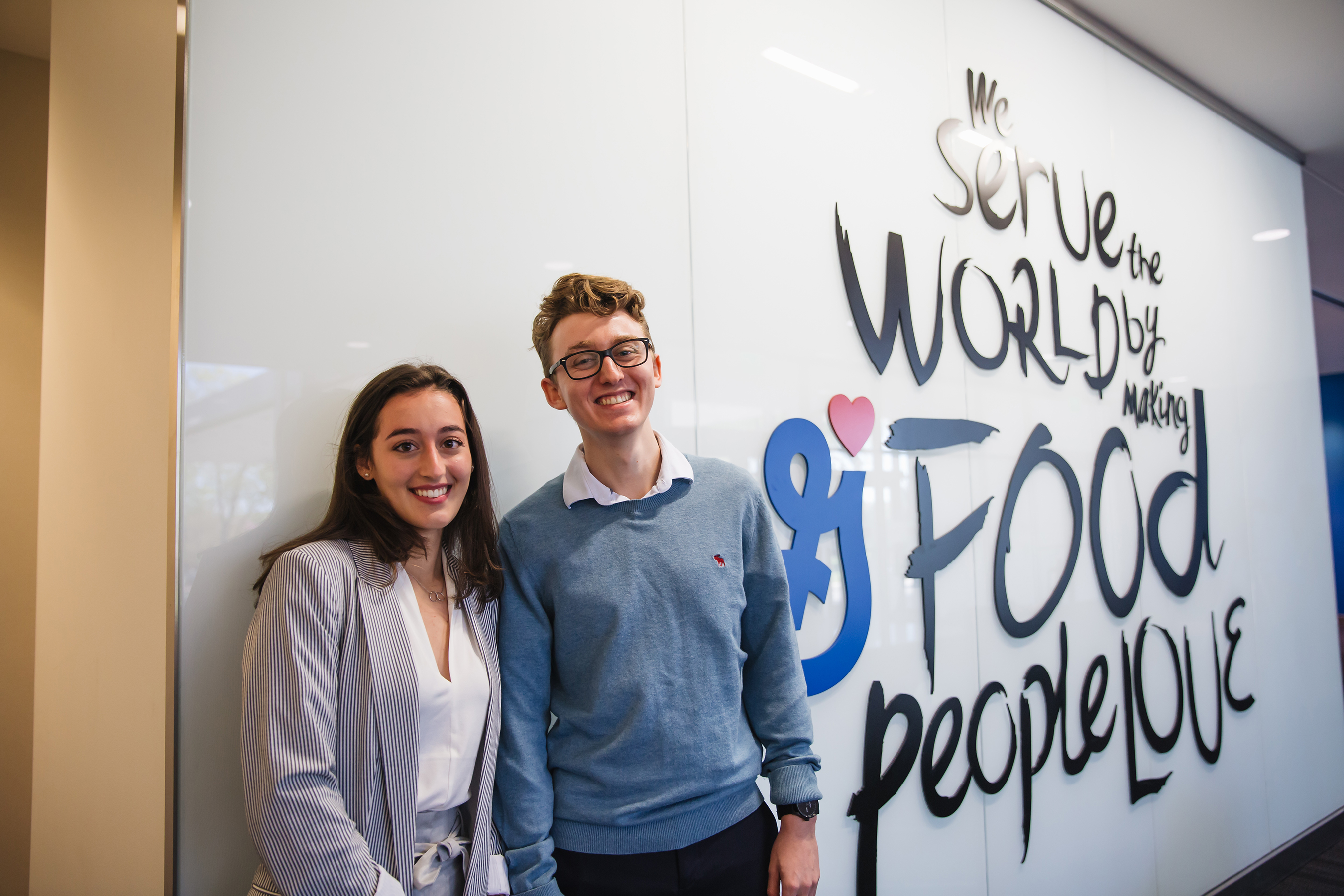 General Mills Feeding Better Futures Scholars Program winners Emma and Ugo Angeletti, founders of back2earth