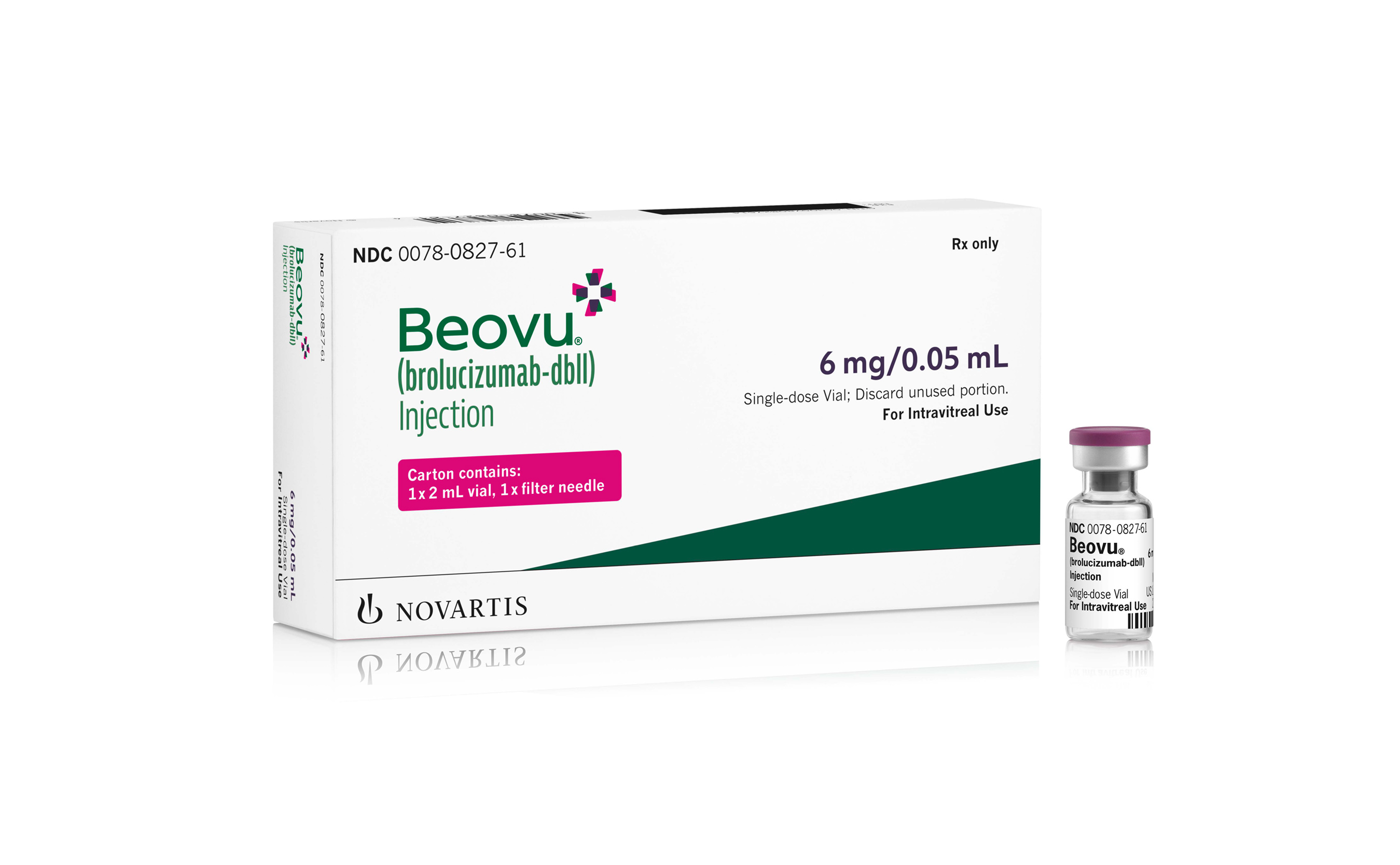 Rx Item-Beovu (brolucizumab-dbll) Injection by Novartis 6MG/0.05ML, (6 MG) SDV P