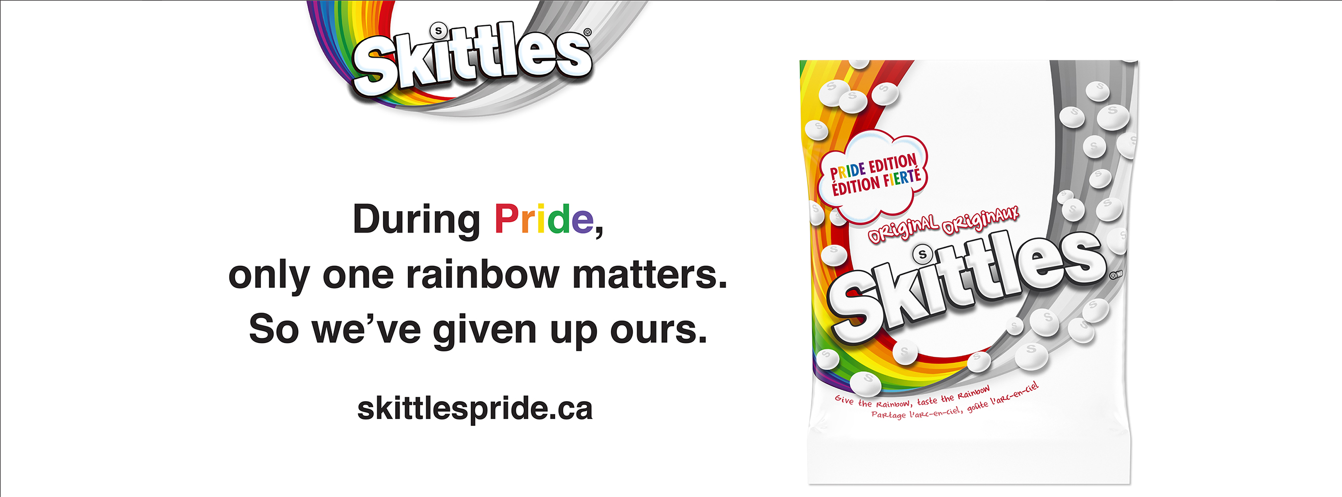 Banner image for Skittle Pride campaign