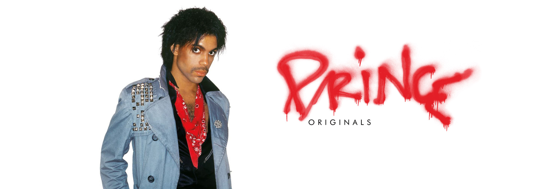 Image of Prince in a jean jacket.