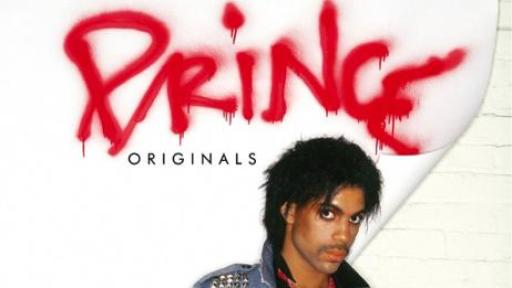 Prince in a jean jacket with Prince Originals on the cover
